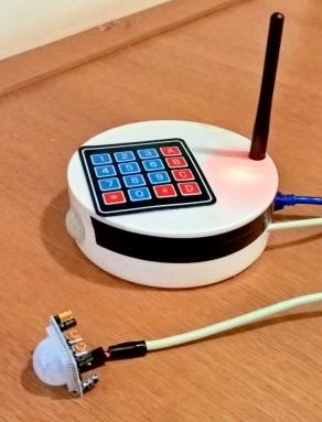 arduino gsm shield alarm movement pir sensor keypad