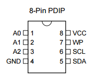 at24c64 dip8 pinout pin
