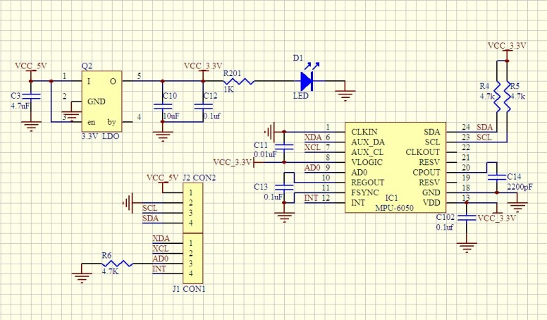 gy-521 schematic